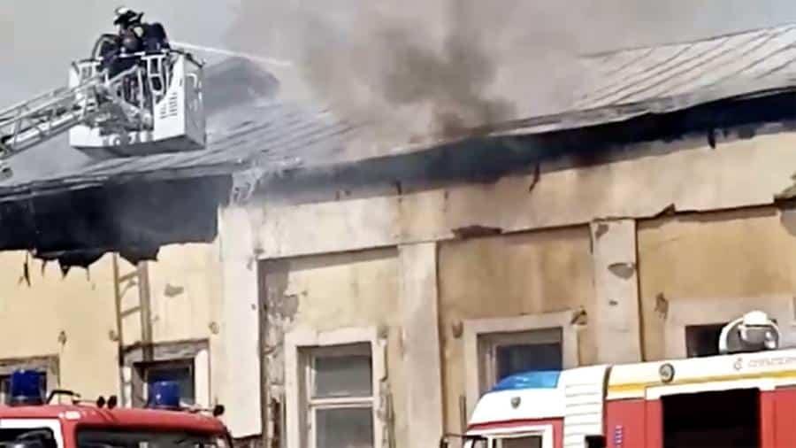 Крупный пожар в центре Москвы 14 июня 2019