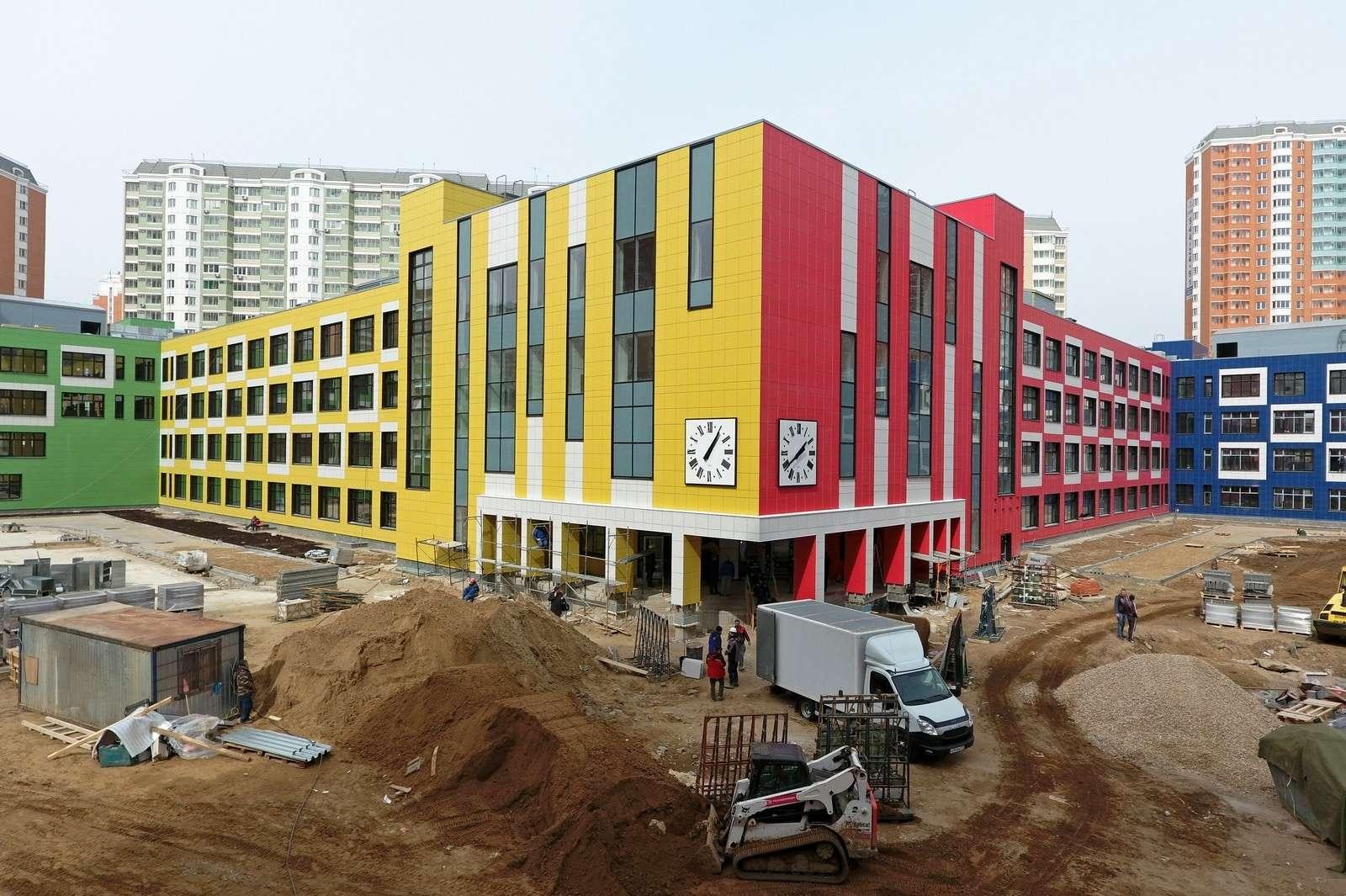 Строительство новых школ в Москве в 2019 году