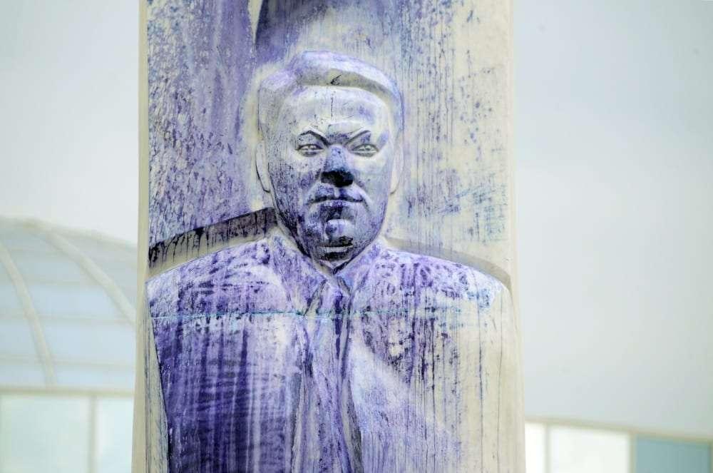 В Екатеринбурге осквернён памятник Борису Ельцину: подозреваемый задержан