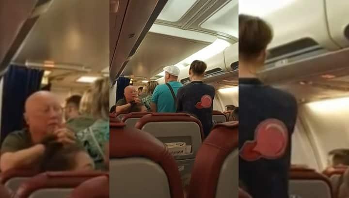 Бунт на самолёте летевшим в Таиланд в Новосибирске