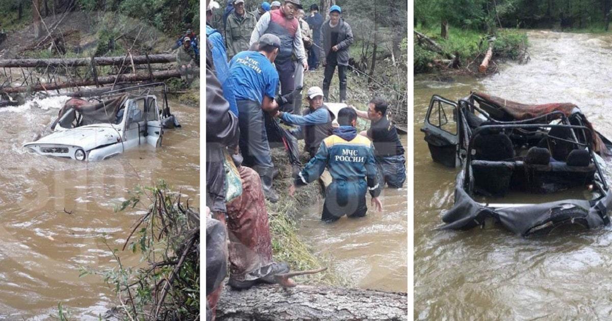 УАЗ перевернулся в Тыве при попытке пересечь реку Шуй: сколько погибло, как это произошло