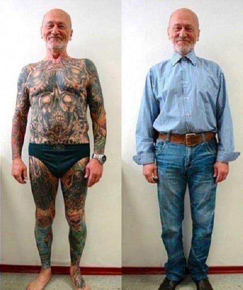 Как выглядят татуировки в старости, сделанные в молодости: фото в молодости и в старости
