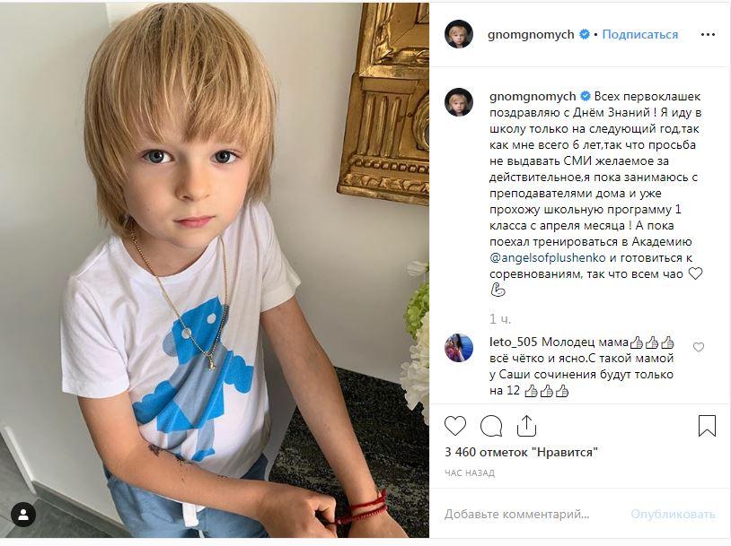 Сын Рудковской и Плющенко не будет учиться в школе: почему, совмещение учебы и тренировок, мнение общества