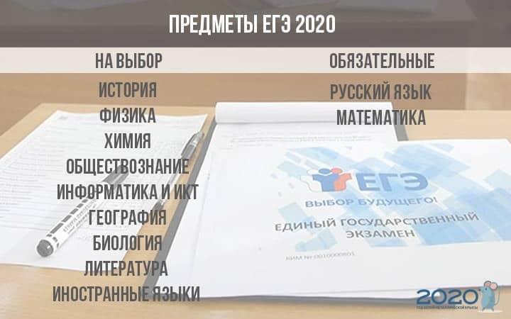 Как будет проходить ЕГЭ в 2020 году: список обязательных предметов