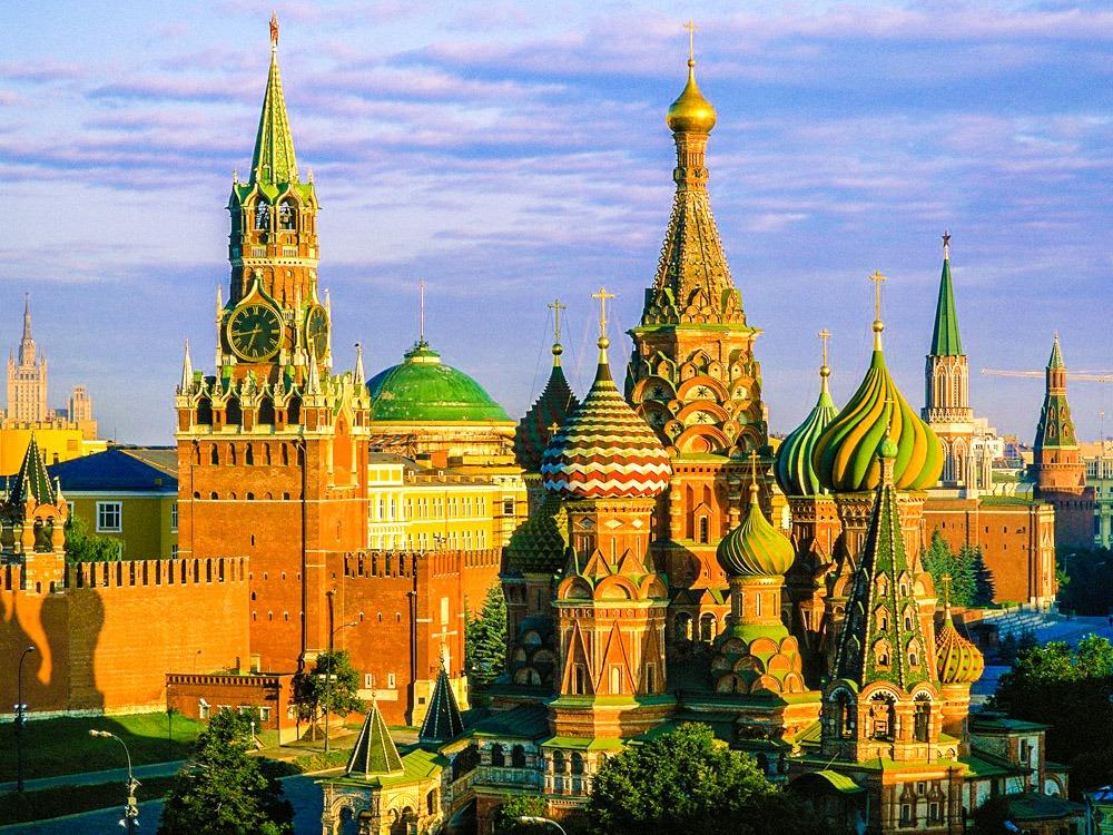 Открытка с видом россии