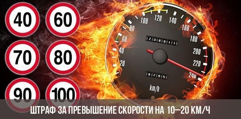 Какие изменения в ПДД в 2019 году введены за превышение скорости, штрафы