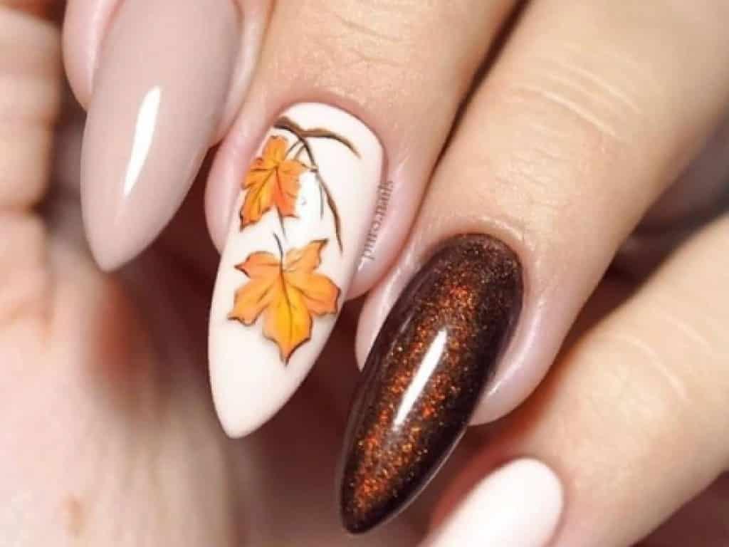 Идеи осеннего маникюра в 2019 году: ТОПовые рисунки осени 2019 для ногтей, уникальный маникюр осенью 2019