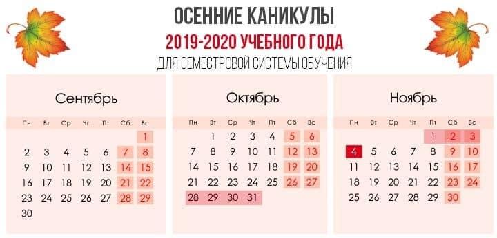 Когда в школах осенние каникулы в 2019 году: сколько продлятся, почему будут дольше