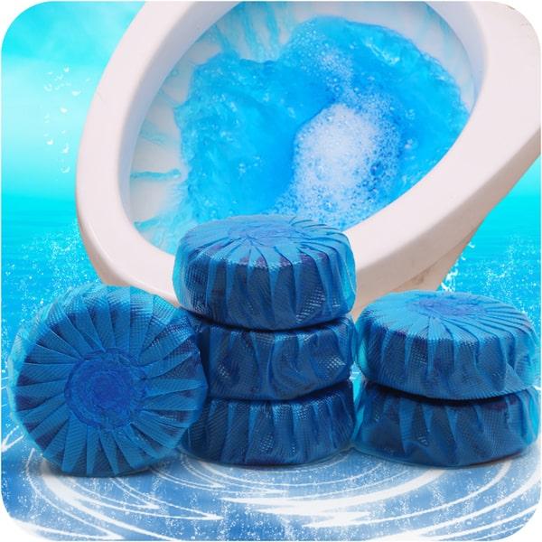 Лайфхак с зубной пастой и очищающие таблетки в сливном бачке унитаза