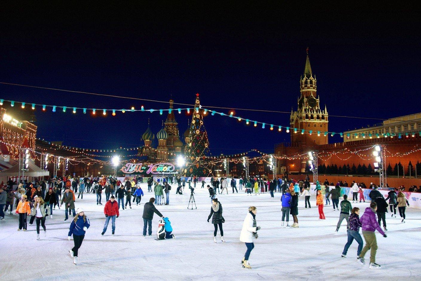 Когда откроется каток на Красной Площади в 2019 году в Москве