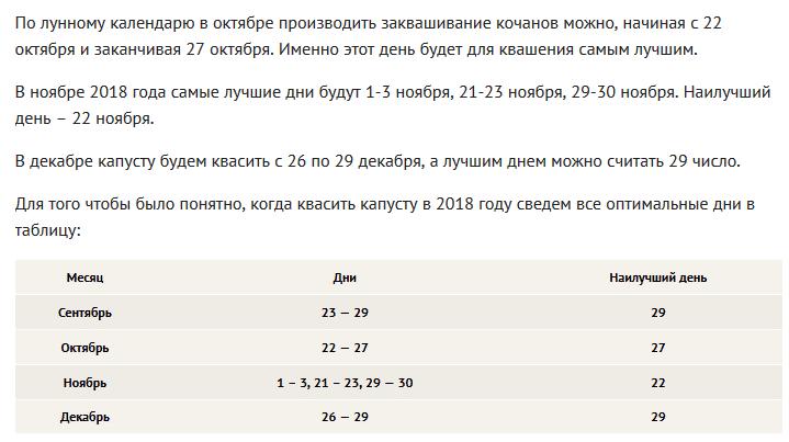 Когда нужно солить капусту в декабре 2019 года: благоприятные дни по Лунному календарю